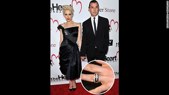 Gavin Rossdale designed this unique diamond-studded gold ring before proposing to Gwen Stefani in 2002. <!-- --> </br>