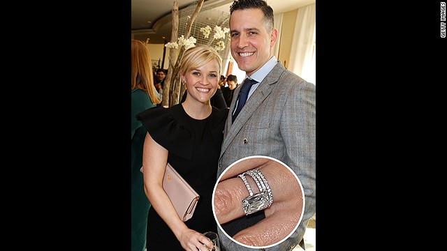 Jim Toth secured his spot in Reese Witherspoon's heart with this four-carat stunner. -- See even more celebrity engagement rings at <a href='http://www.elle.com/pop-culture/best/top-25-celebrity-engagement-rings' target='_blank'>Elle.com</a><!-- --> </br>