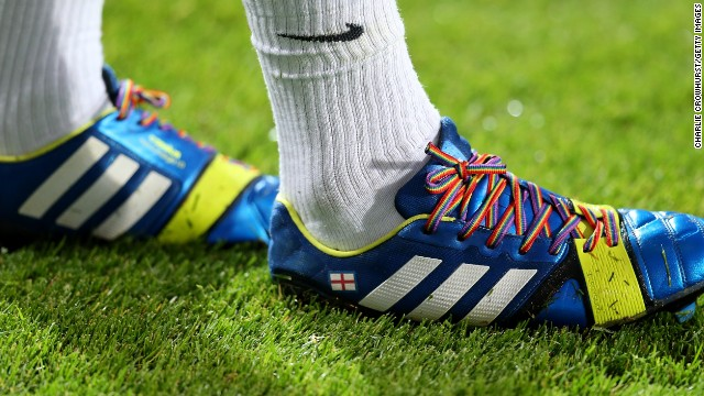 Queens Park Rangers midfielder Joey Barton was the first player to wear the rainbow laces.