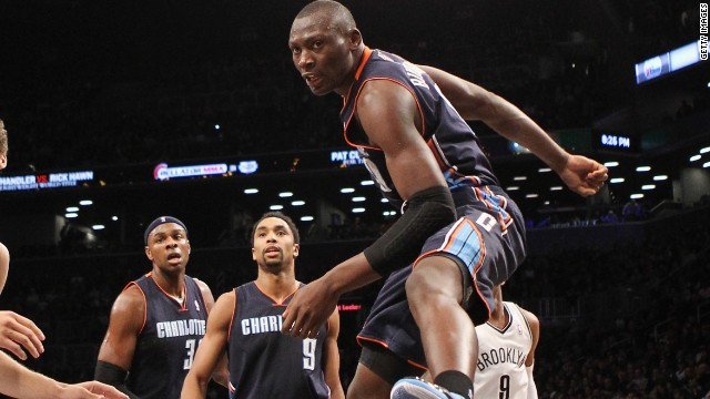 Born in the Democratic Republic of the Cong, 21-year-old Bismack Biyombo began his professional basketball career in Spain and in 2011 he was drafted to the NBA and traded to the Charlotte Bobcats.