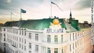 Bond scrambles over the rooftop of the Atlantic Kempinski in \