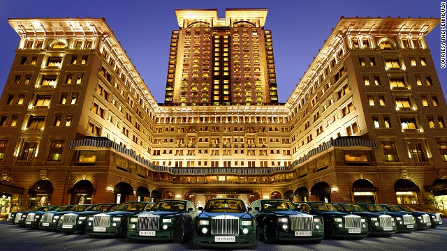 "The Peninsula -- and its fleet of Rolls-Royce Silver Shadows -- appeared in ""The Man with the Golden Gun,"" starring Roger Moore. In the film, Bond follows Bond girl Andrea Anders from Macau to Hong Kong, where she's picked up by one of the hotel's ""Peninsula-green"" Rolls-Royces."