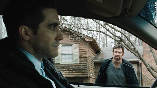 Jake Gyllenhaal stars as a moody investigator with Hugh Jackman as a worried father in