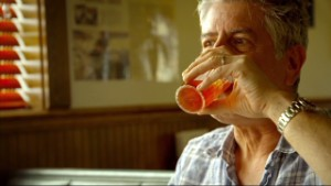"Bourdain: ""My face is burning off"""