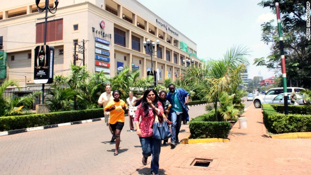 People run from the Westgate Mall.