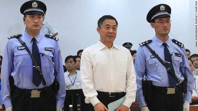 Photo released by Jinan Intermediate People's Court of Bo Xilai awaiting his verdict in September.