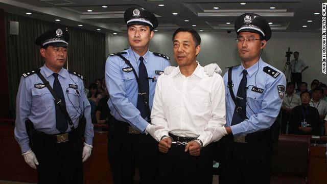 El político chino Bo Xilai condenado a candena perpetua