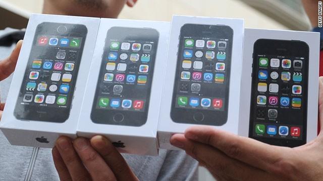 Apple vendió 9 millones de iPhone 5S y 5C en tres días