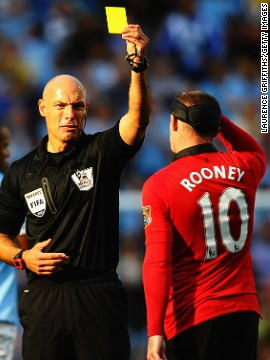 With Robin van Persie ruled out by injury before the match, Wayne Rooney was given even more reponsibility for United's attacking fortunes. He was frustrated for much of the match, earning a booking for a tussle with City captain Vincent Kompany, but struck a fine consolation free-kick in the closing minutes.