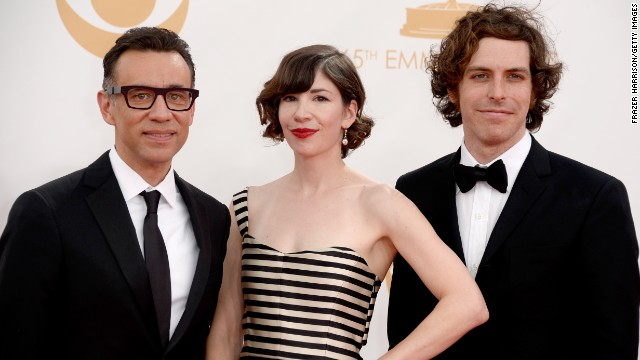 """Portlandia"" stars Fred Armisen, left, and Carrie Brownstein and director-writer Jonathan Krisel"