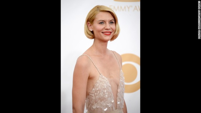 "Claire Danes, who won for outstanding lead actress in a drama for her portrayal of Carrie Mathison in ""Homeland,"" told CNN backstage she's a bit ""shy"" about the Emmy recognition."