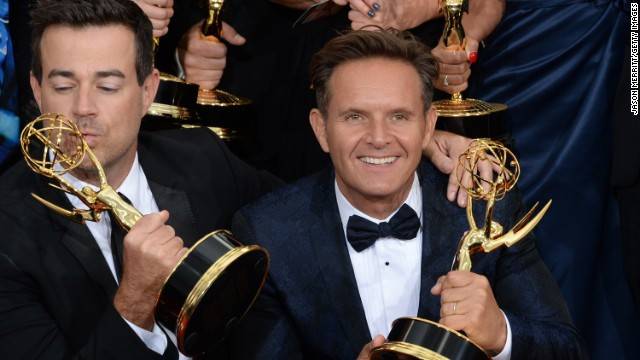 "Outstanding reality-competition program: Carson Daly, left, and Mark Burnett, ""The Voice"""