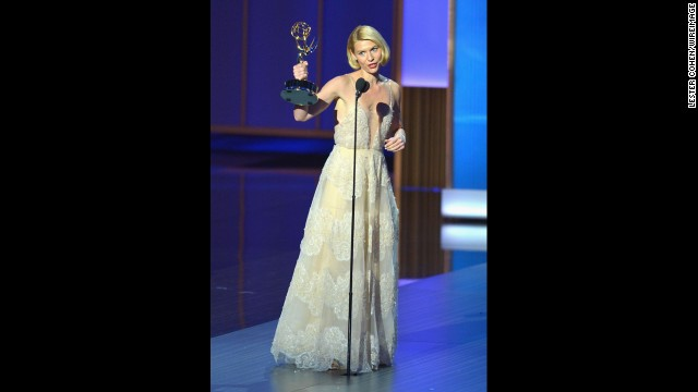 "Outstanding lead actress in a drama series: Claire Danes, ""Homeland"""