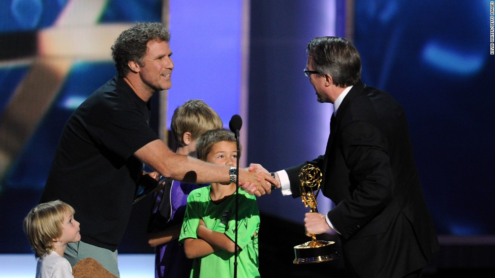 "Will Ferrell presents the award for outstanding drama series to Vince Gilligan, creator of ""Breaking Bad,"" to wrap up the 65th Annual Primetime Emmy Awards in Los Angeles on Sunday, September 22."