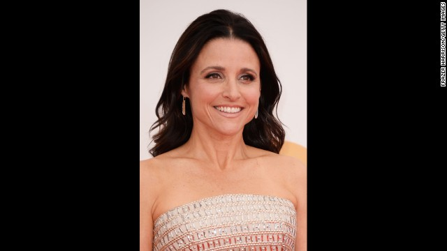 "Julia Louis-Dreyfus won the Emmy for outstanding lead actress in a comedy for ""Veep."" The actress even channeled her character while accepting the award."