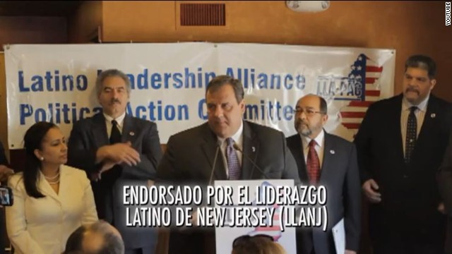 Christie makes Spanish re-election pitch