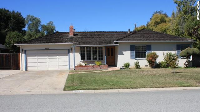 Steve Jobs and Steve Wozniak built their first Apple computers in the garage of this home in Los Altos, California.