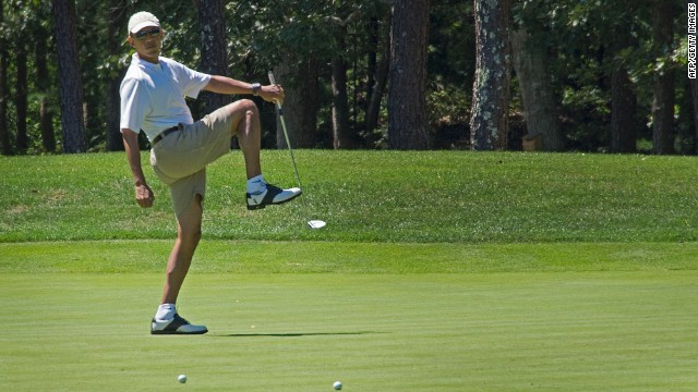 Bush: Obama 'ought to play golf'