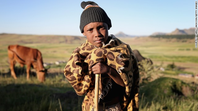 In Lesotho, boys as young as five head out onto the rugged mountains to become shepherds.