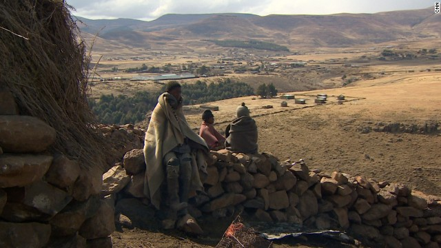 The young herd boys spend months, sometimes years, away from their families, tending cattle and sheep in the isolation of Lesotho's mountains.