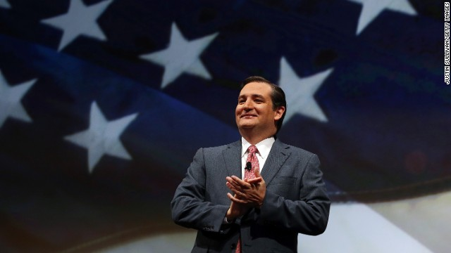 Cruz speaks during the National Rifle Association's Annual Meeting and Exhibits in Houston on May 3.