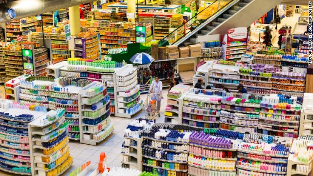 A customer shops at the Nakumatt department store.