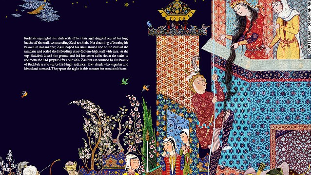 Many of the Shahnameh's tales, including that of Zaul and Rudabeh (pictured) were the basis for some of the English language's most famous stories.