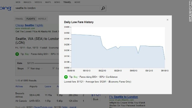 Bing Travel bought price predicting website Farecast back in 2005, and the airfare forecaster is still a major feature on the site.