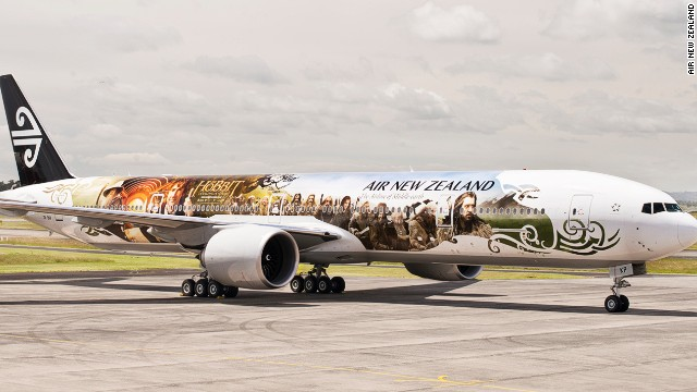 Air NZ's Hobbit plane - click to expand