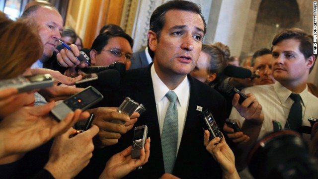 Republican Sen. Ted Cruz blasts 'party bosses' in homecoming rally