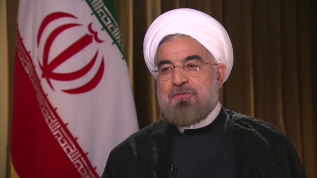 Iranian President Hassan Rouhani talks with CNN's Christiane Amanpour on Tuesday.
