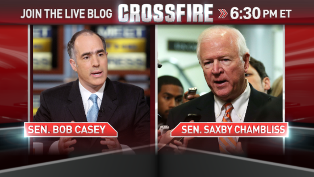 In the Crossfire: Sens. Saxby Chambliss & Bob Casey