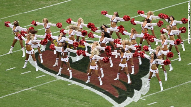 Twenty-six of the 32 NFL teams, including the Arizona Cardinals, pictured here, have a cheerleading squad.
