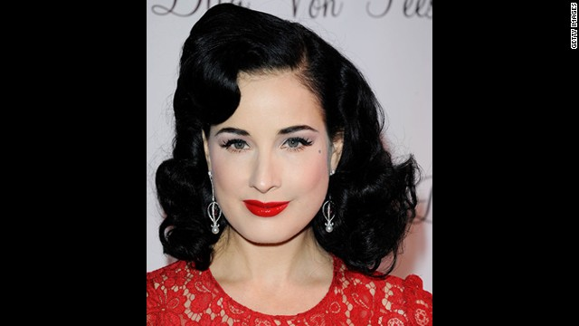 Dita Von Teese worked with Gregory Alt to create this Old Hollywood-inspired look.