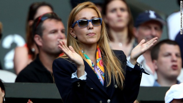 Novak Djokovic's new fiancee, Jelena Ristic, often cheers on the world No. 1 at his tennis matches.