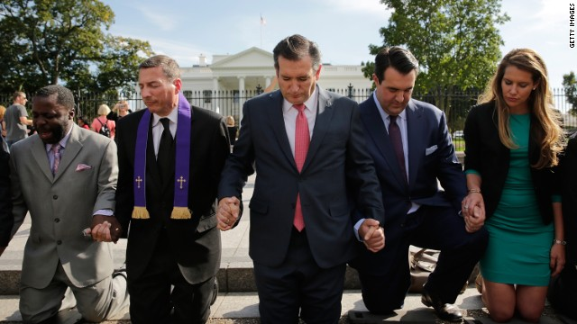 Ted Cruz joins WH protest for detained American pastor in Iran