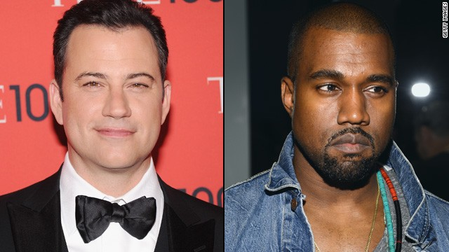 Kanye West has given Jimmy Kimmel the rap feud he's always wanted. After <a href='http://www.youtube.com/watch?v=It05EvqFD6s&feature=c4-overview&list=UUa6vGFO9ty8v5KZJXQxdhaw' target='_blank'>Kimmel poked fun at West's interview</a> with the BBC -- in which the entertainer called himself the No. 1 rock star on the planet -- <a href='https://twitter.com/kanyewest/with_replies' target='_blank'>West went to Twitter to air his profane grievances</a> (in all caps, of course). The two later made amends with a televised sitdown.
