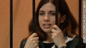 Pussy Riot\'s Nadezhda Tolokonnikova was hospitalized after launching a hunger strike this week.