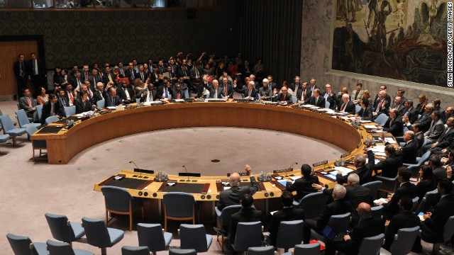 The U.N. Security Council votes to approve a resolution that will require Syria to give up its chemical weapons during a meeting on Friday, September 27. The vote came after assertions by the United States and other Western nations that the Syrian government used chemical weapons in an August 21 attack outside Damascus that U.S. officials estimate killed 1,400 people.