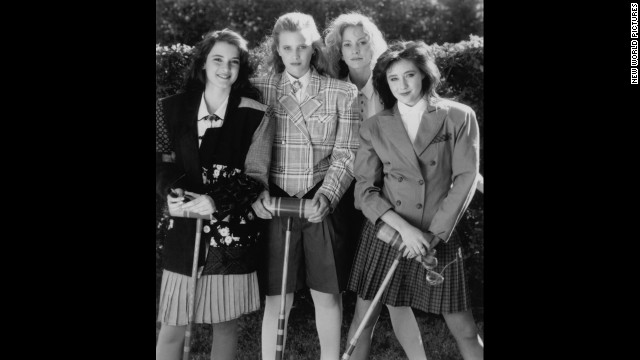 "The dark comedy ""Heathers"" was the original ""Mean Girls."" Left to right are stars Winona Ryder, Kim Walker, Lisanne Falk and Shannen Doherty."
