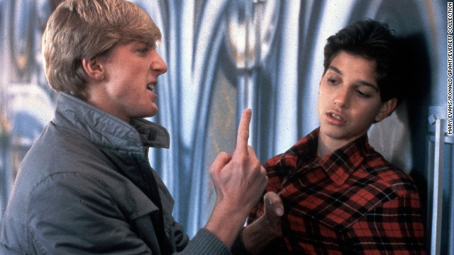 "In the classic tale of a bullied kid who fights back, ""The Karate Kid,"" Ralph Macchio, right, is confronted by Johnny Lawrence (William Zabka), a member of the fearsome Cobra Kai dojo."