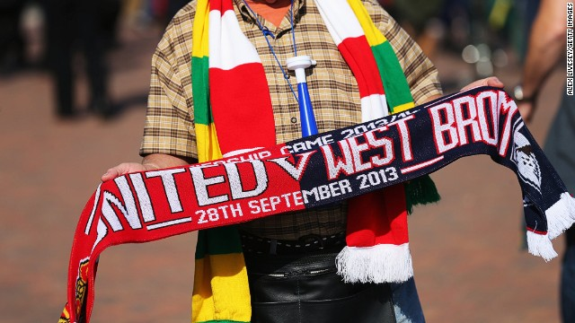 Remember the date: It will be West Brom fans, not the United faithful snapping this scarf up after the match at Old Trafford. West Brom's 2-1 win was the club's first at the Theatre of Dreams since 1979. David's Moyes' United haven't made a worse start to a season for almost a quarter of a century.
