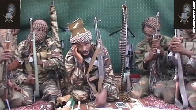 A video of Abubakar Shekau, who claims to be the leader of the Nigerian Islamist extremist group Boko Haram, is shown on September 25, 2013. Boko Haram is an <a href='http://www.cnn.com/2014/02/27/world/africa/nigeria-year-of-attacks'>Islamist militant group waging a campaign of violence</a> in northern Nigeria. The group's ambitions range from the stricter enforcement of Sharia law to the total destruction of the Nigerian state and its government. Click through to see recent bloody incidents in this strife-torn West African nation: