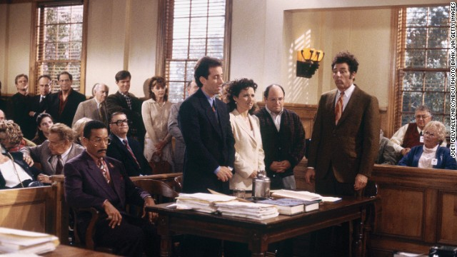 "For ""Seinfeld's"" final episode, co-creator Larry David returned to write the script. He apparently decided that the four main characters were beyond help, because they ended up in jail following a trial in which many of those they'd wronged testified."