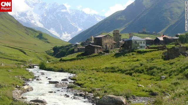 "Anna Mikaelyan describes this village in the country of Georgia as ""one of the most tranquil places on Earth."" ""Being here makes you feel like you went <a href='http://ireport.cnn.com/docs/DOC-984180'>back in time</a>,"" she added."