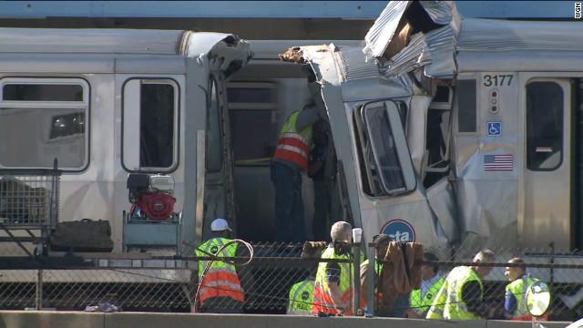 Decenas de heridos por un choque de trenes en Chicago