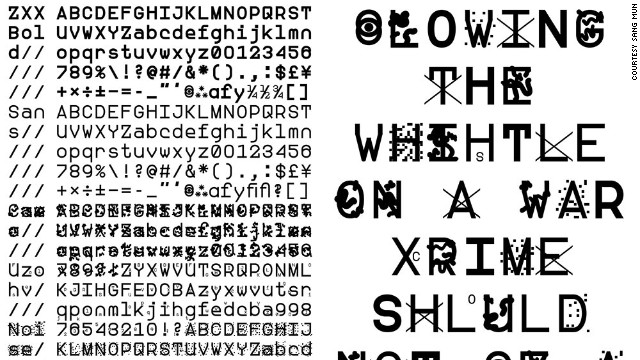 Former NSA contractor Sang Mun's ZXX font is designed to disrupt Optical Character Recognition (OCR) -- the software used by Google and others to scan books or physical documents.