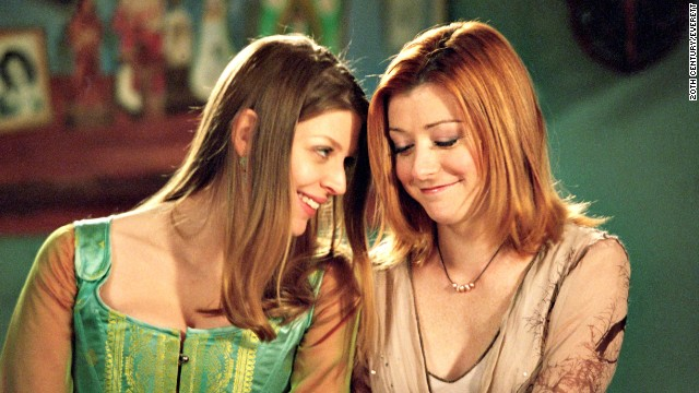 "Tara Maclay (Amber Benson) and Willow Rosenberg (Alyson Hannigan) were a happy couple on ""Buffy the Vampire Slayer"" until a bullet felled Tara, which led to much outrage from fans. (<a href='http://www.cnn.com/2013/09/06/showbiz/fan-backlash-dancing-fifty-batman/index.html?iref=allsearch'>But what else is new?</a>)"