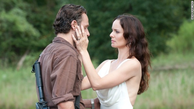 "Rick Grimes (Andrew Lincoln) and Lori Grimes (Sarah Wayne Callies) didn't have a chance to live happily ever after on ""The Walking Dead"" since she died in childbirth."