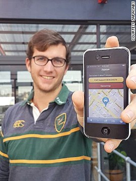 Zapacab is an app that lets passengers locate taxi drivers, order a cab at the touch of a button, and then follow the cab's movements.